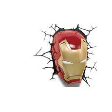 Lampka 3D LED Marvel - Maska Iron Man