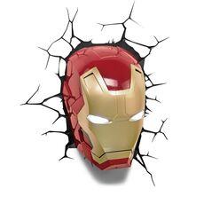 Lampka 3D LED Marvel - Maska Iron Man, zdjęcie 1