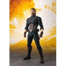 Figurka Avengers Infinity War S.H. Figuarts - Captain America & Tamashii Effect Explosion 16 cm