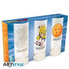 Szklanki Dragon Ball - Goku, Shenron, Smocza Kula (zestaw)