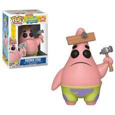 Figurka SpongeBob Kanciastoporty POP! Patryk Rozgwiazda (z deską)