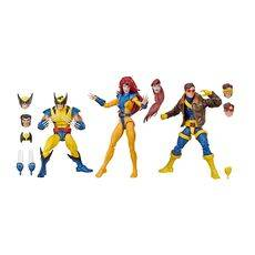 Zestaw figurek Marvel Legends 80th Anniversary - X-Men Wolverine, Jean Grey & Cyclops