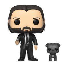 Figurka John Wick POP! - John Wick in Black Suit with Dog, zdjęcie 1