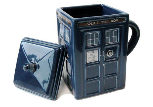 Kubek ceramiczny z pokrywką Doctor Who - Tardis