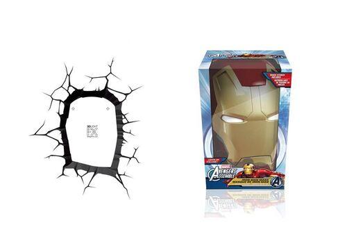Lampka 3D LED Marvel - Maska Iron Man