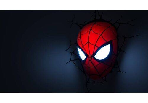 Lampka 3D LED Marvel - Maska Spider-Man