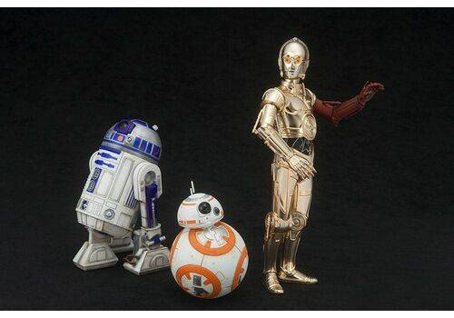 Zestaw figurek Star Wars Episode VII ARTFX+ 3-Pack 1/10 C-3PO & R2-D2 & BB-8