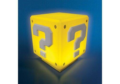 Mini Lampka Super Mario - Question Block (z dźwiękiem) 7 cm
