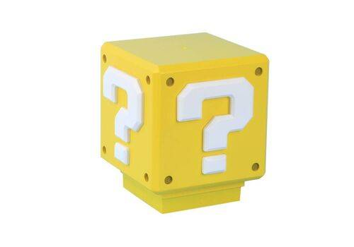 Mini Lampka Super Mario - Question Block (z dźwiękiem) 7 cm