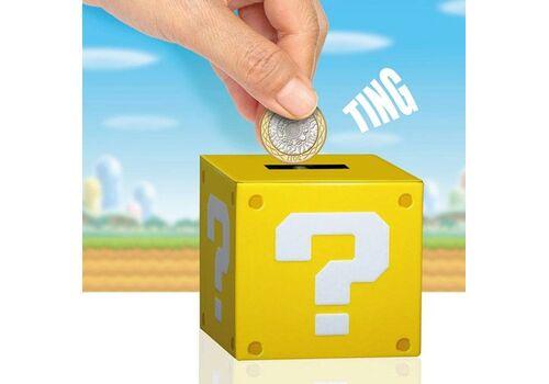 Skarbonka Super Mario - Question Block (z dźwiękiem) 10 cm