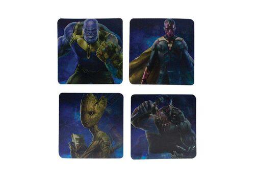 Podstawki 3D Marvel - Avengers Infinity War (zestaw czterech)