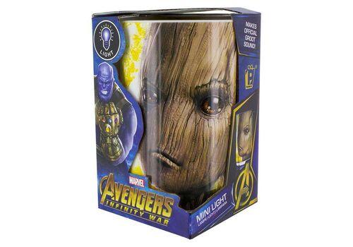 Mini Lampka Marvel Avengers Infinity War - Groot (z dźwiękiem) 11 cm