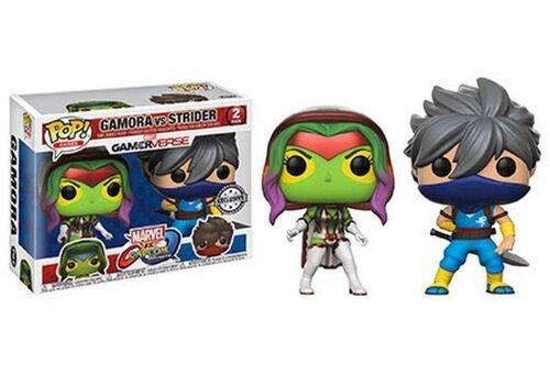 Zestaw dwóch figurek Marvel vs. Capcom Infinite POP! - Gamora vs Strider