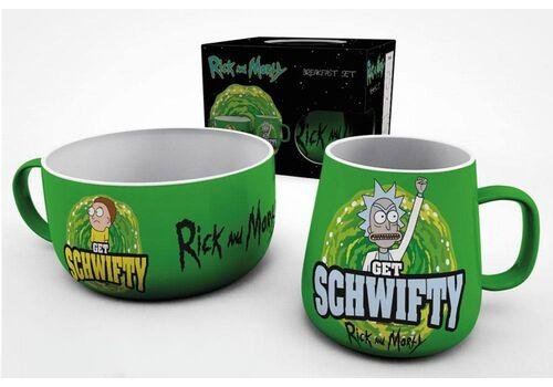 Zestaw śniadaniowy Rick and Morty - Get Schwifty (Kubek & Miska)
