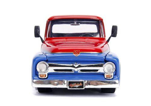 Model samochodu DC Bombshells Diecast 1/24 1956 Ford F100 (Wraz z figurką Supergirl )