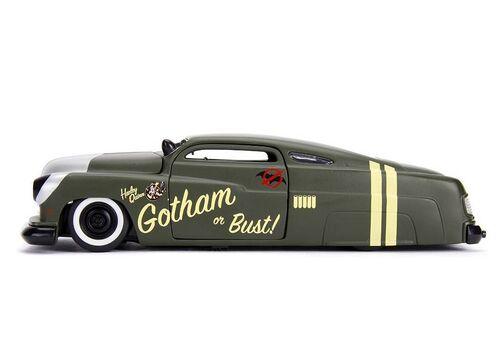 Model samochodu DC Bombshells Diecast 1/24 1951 Mercury (Wraz z figurką Harley Quinn)