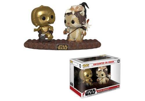 Diorama Star Wars: Movie Moments POP! C-3PO on Throne