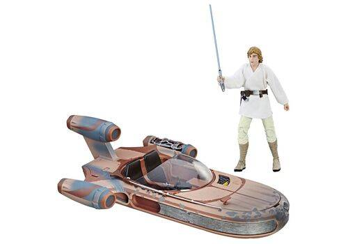 Zestaw Star Wars Black Series - Figurka Luke Skywalker & Pojazd X-34 Landspeeder