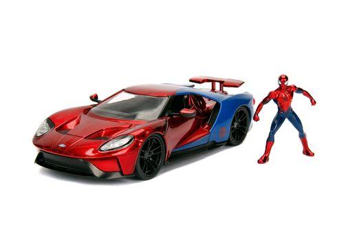 Model samochodu Marvel Diecast 1/24 2017 Ford GT (Wraz z figurką Spider-Man)