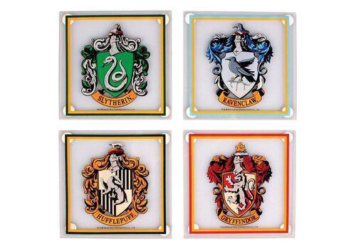 Szklane podstawki Harry Potter (zestaw czterech)Szklane podstawki Harry Potter (zestaw czterech)