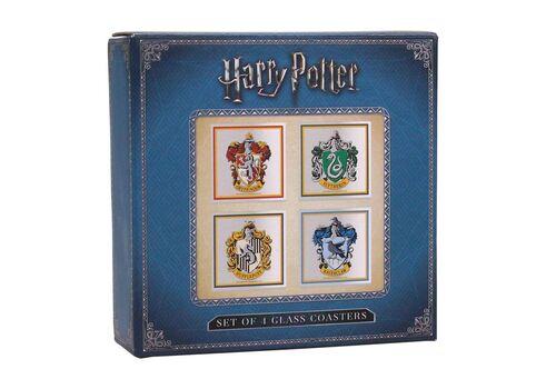 Szklane podstawki Harry Potter (zestaw czterech), zdjęcie 2