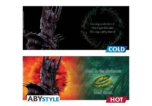 Duży kubek zmieniający kolor Władca Pierścieni - Sauron (460 ml)
