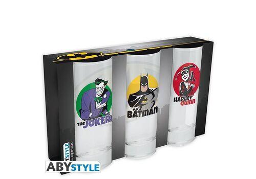 Szklanki DC Comics - Batman, Harley Quinn, Joker (zestaw)