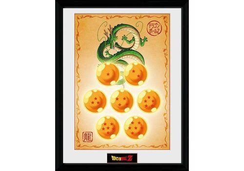Plakat w ramie Dragon Ball Z - Shenron & Smocze Kule 45 x 34 cm