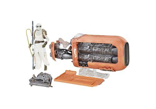 Zestaw Star Wars Black Series - Figurka Rey & Pojazd Speeder (Jakku)