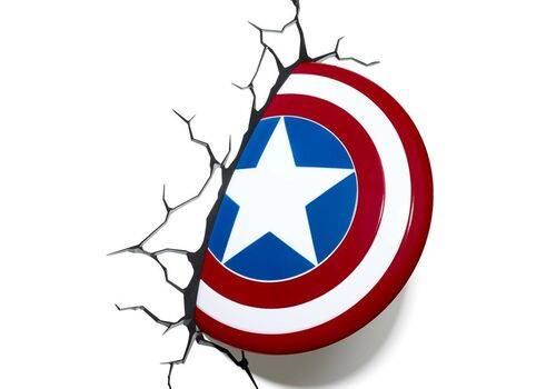 Lampka 3D LED Marvel - Tarcza Kapitana Ameryki