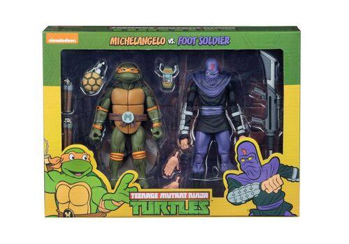 Zestaw figurek Teenage Mutant Ninja Turtles - 2-Pack Michelangelo vs Foot Soldier, zdjęcie 1