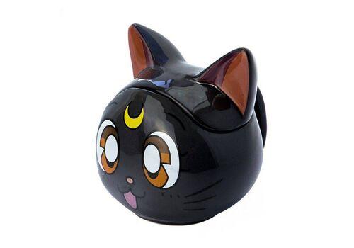 Kubek ceramiczny z pokrywką Sailor Moon 3D - Luna (350 ml)