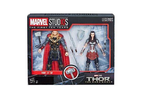 Zestaw figurek Marvel Legends - Thor & Lady Sif (Thor: The Dark World), zdjęcie 7