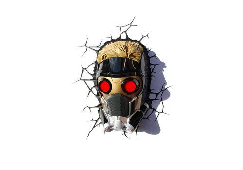 Lampka 3D LED Marvel Strażnicy Galaktyki - Maska Star-Lord
