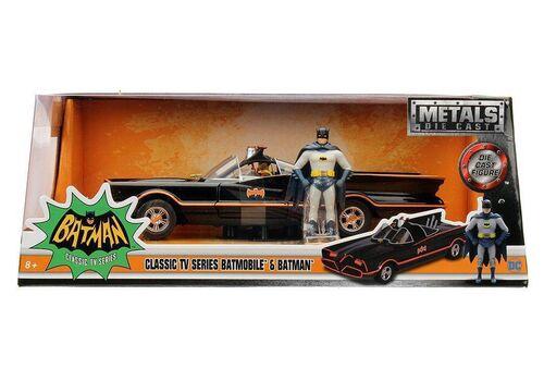 Model samochodu Batman Classic TV Series Diecast 1/24 1966 Batmobile (Wraz z figurką Batman)