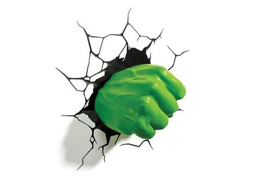 Lampka 3D LED Marvel - Pięść Hulka