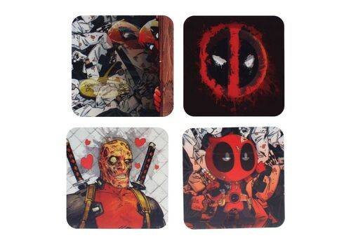 Podstawki 3D Marvel - Deadpool (zestaw czterech)