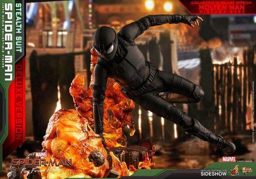 Figurka Spider-Man: Far From Home 1/6 Spider-Man (Stealth Suit) Deluxe Version, zdjęcie 5