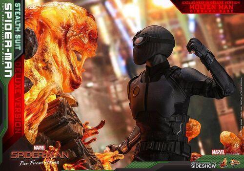 Figurka Spider-Man: Far From Home 1/6 Spider-Man (Stealth Suit) Deluxe Version, zdjęcie 7