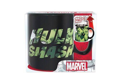Duży kubek zmieniający kolor Marvel - Hulk Smash (460 ml)
