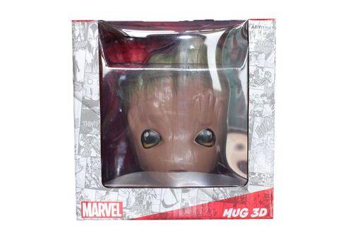 Kubek ceramiczny z pokrywką Marvel 3D - Groot (300 ml)