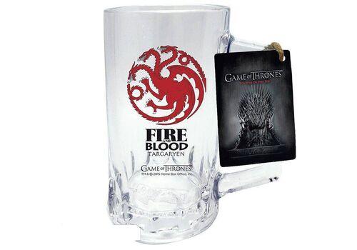 Kufel szklany Gra o Tron - Targaryen (500 ml)
