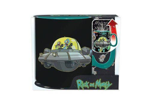 Duży kubek zmieniający kolor Rick & Morty - Spaceship (460 ml)