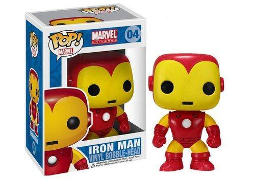 Figurka Marvel Comics POP! Vinyl Bobble-Head Iron Man 10 cm