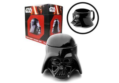 Kubek ceramiczny z pokrywką Star Wars 3D - Darth Vader (650 ml)
